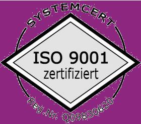 Zertifikat der Iso Company